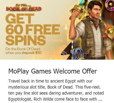 MoPlay Welcome Offer